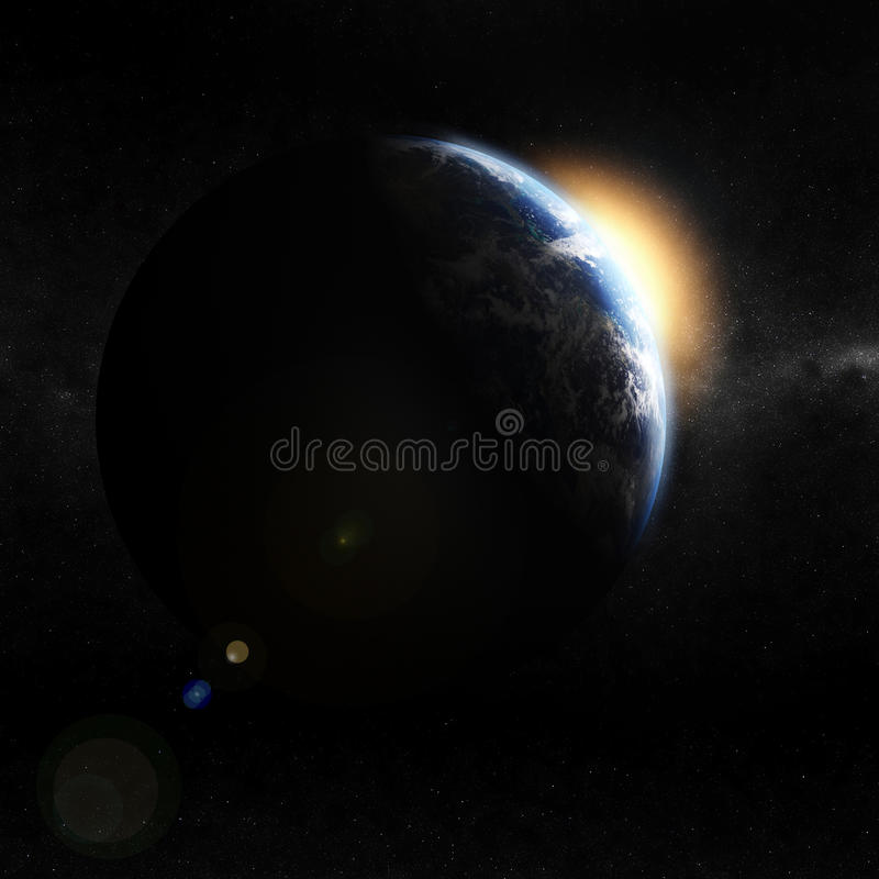 Download 3d earth view from space stock illustration. Image of night - 12818011