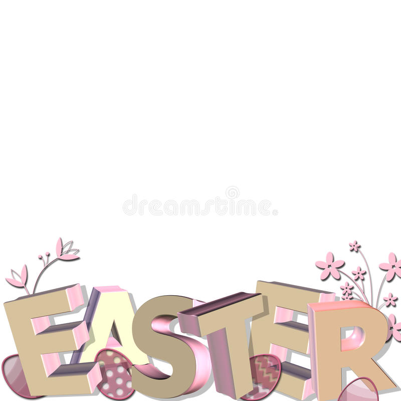 Download 3D easter greeting stock illustration. Image of eggs - 12766677