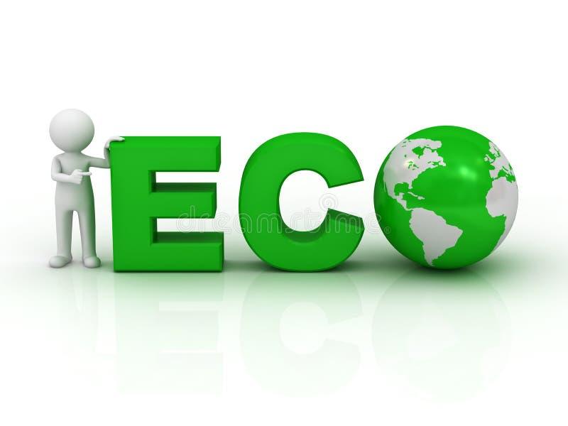 3d eco人字 向量例证