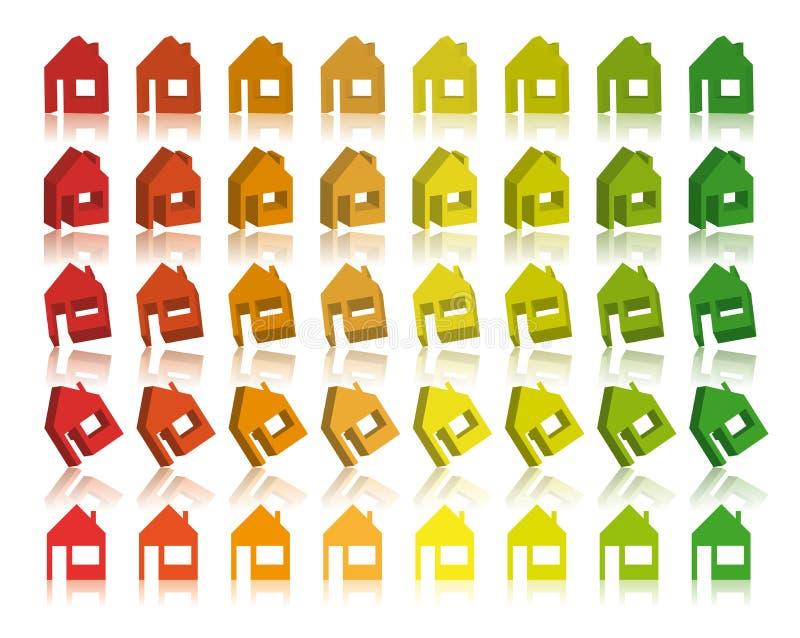 3d eco domów wektor ilustracji