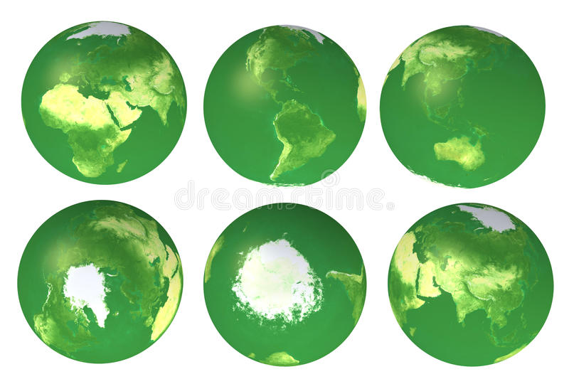 Download 3d eco globe views stock image. Image of atlas, internet - 16324133
