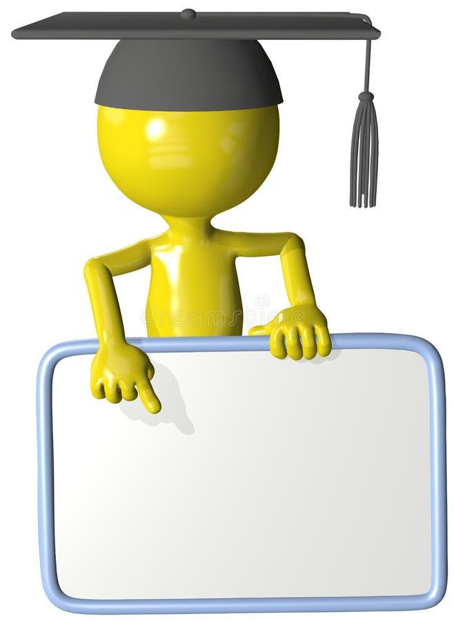 3d edukaci absolwenta punktu znaka nauczyciela adiunkt ilustracji