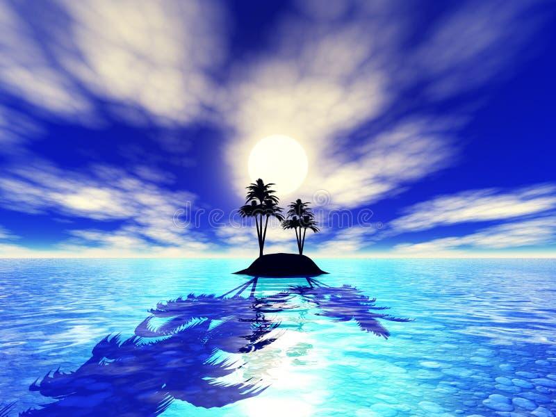 3d eiland stock illustratie