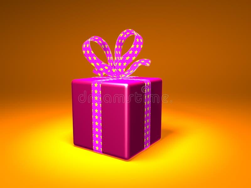 3D eingewickeltes Geschenk stockbild