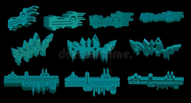 Download 3d elements stock illustration. Image of graphic, elements - 12084933