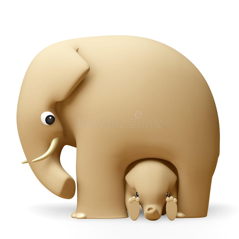 Download 3D Elephant Happy Fathers Day Stock Illustration - Image: 27353837