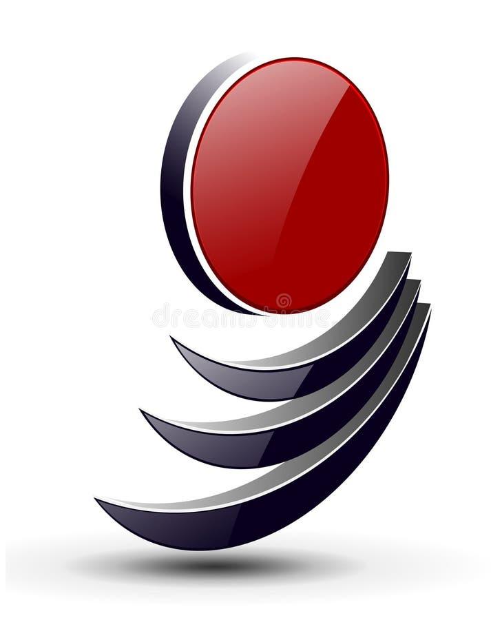 3D embleem stock illustratie