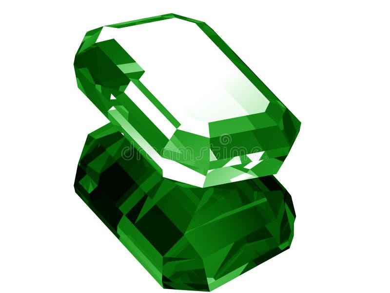 3d Emerald vector illustration