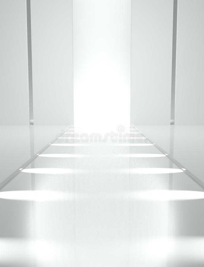 3d Empty fashion runway. Background vector illustration