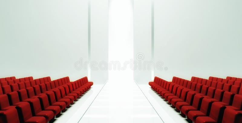 3d Empty fashion runway. Background stock illustration