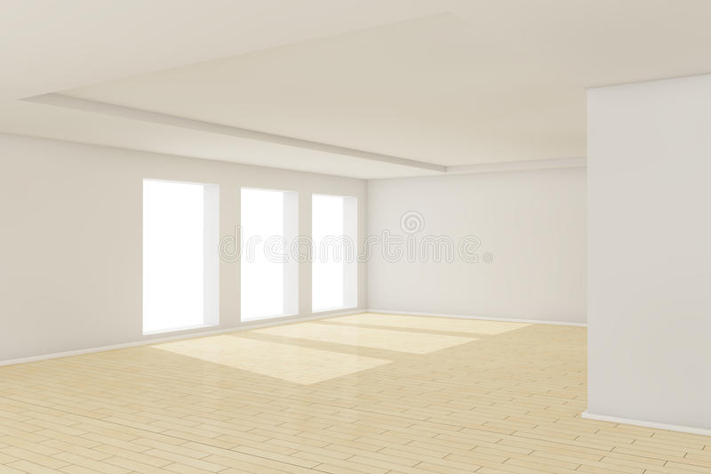 Download 3d Empty Room With Sunlight Stock Illustration - Image: 17459632