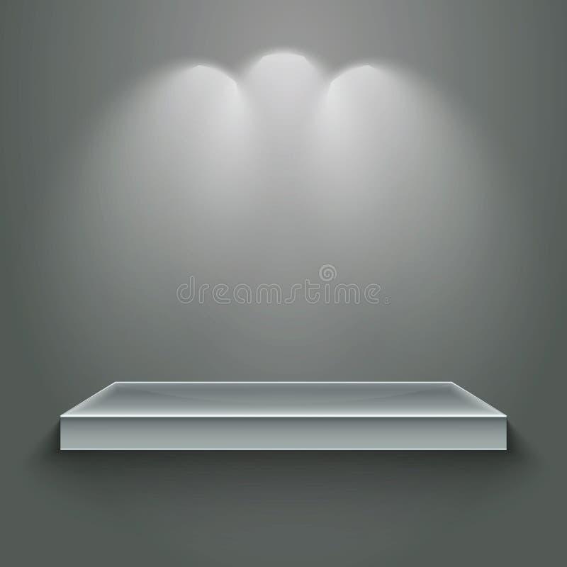 Download 3d  empty shelf stock vector. Image of expo, light, market - 21721250