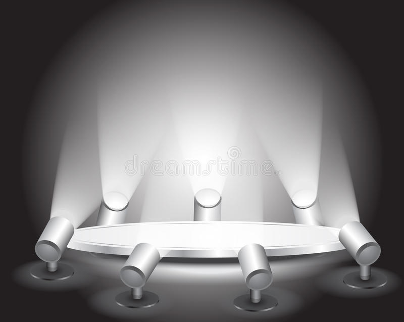 3d Empty White Podium With Light Royalty Free Stock Photography