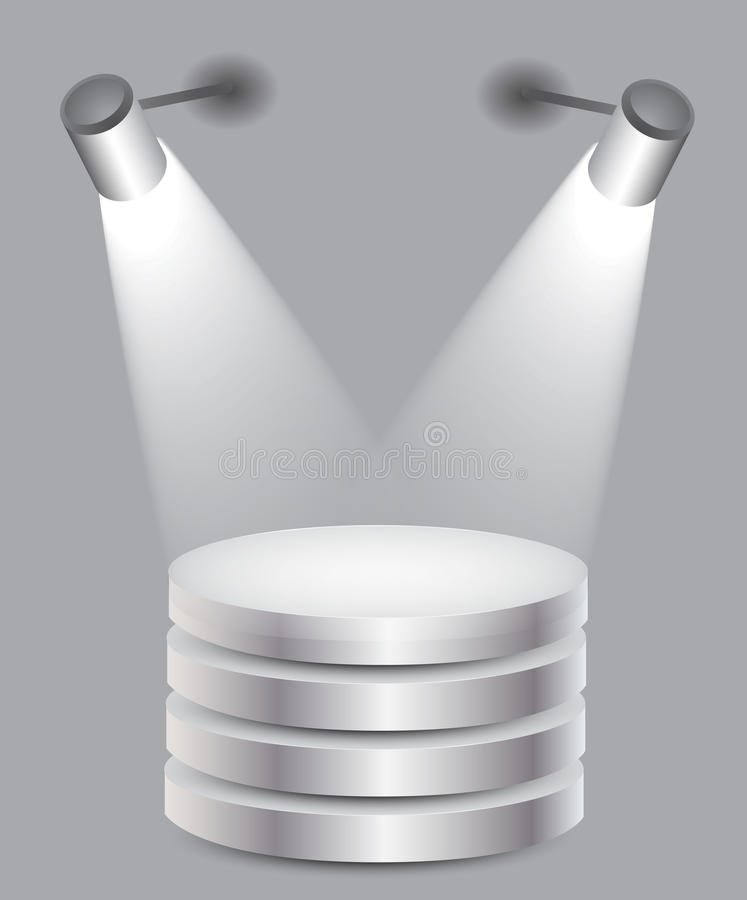 Download 3d Empty White Stand With Light Royalty Free Stock Photography - Image: 23627957