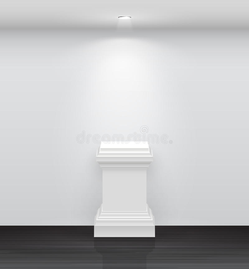 Download 3d Empty White Stand For Your Exhibit Stock Vector - Image: 24553996