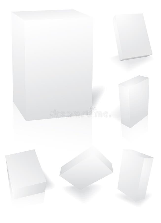 3d enferme dans une boîte le vecteur illustration stock