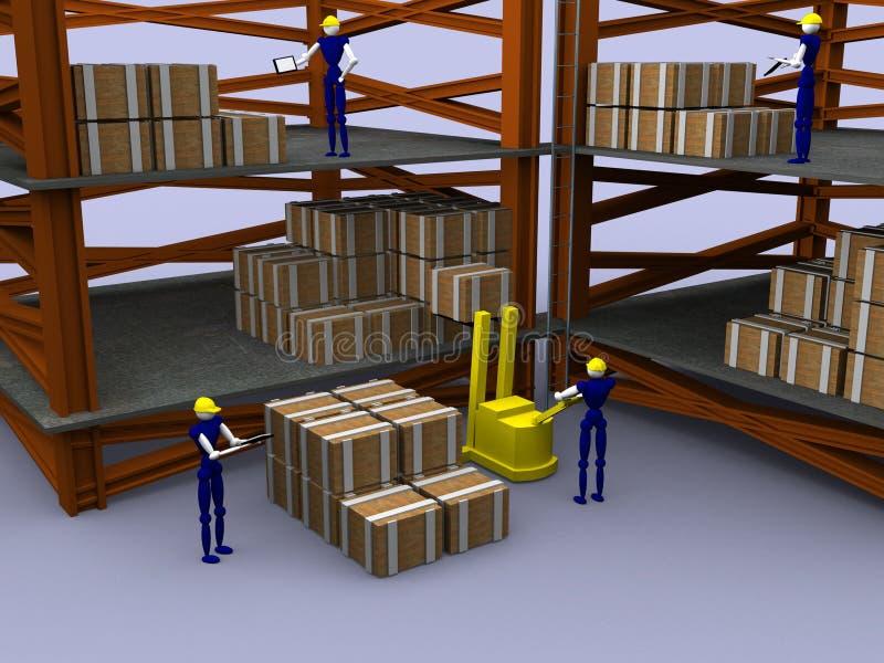 3d entrepôt vol. 2 photos libres de droits
