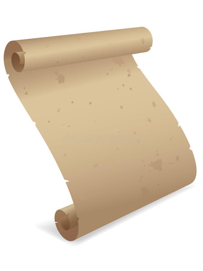 3d eps羊皮纸滚动 向量例证