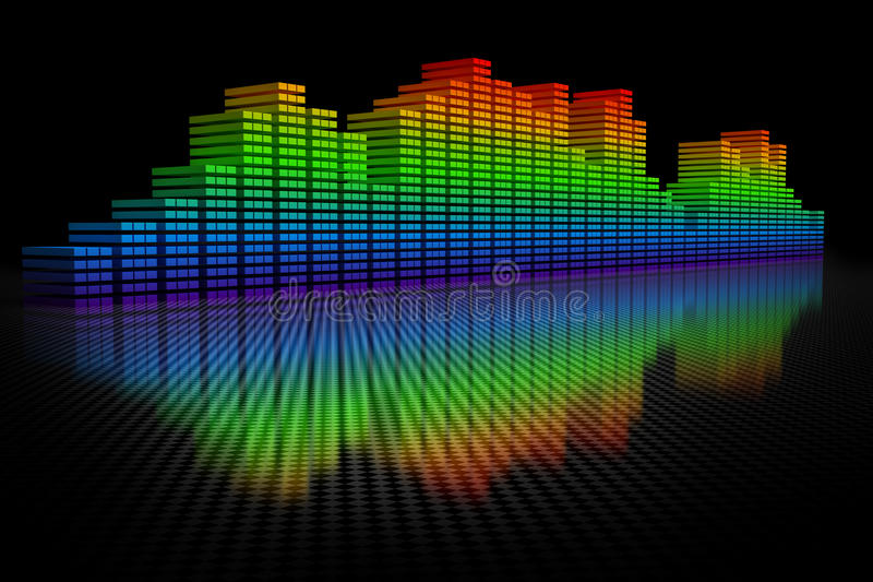 Download 3D Equalizer Display stock illustration. Image of frequency - 14855605