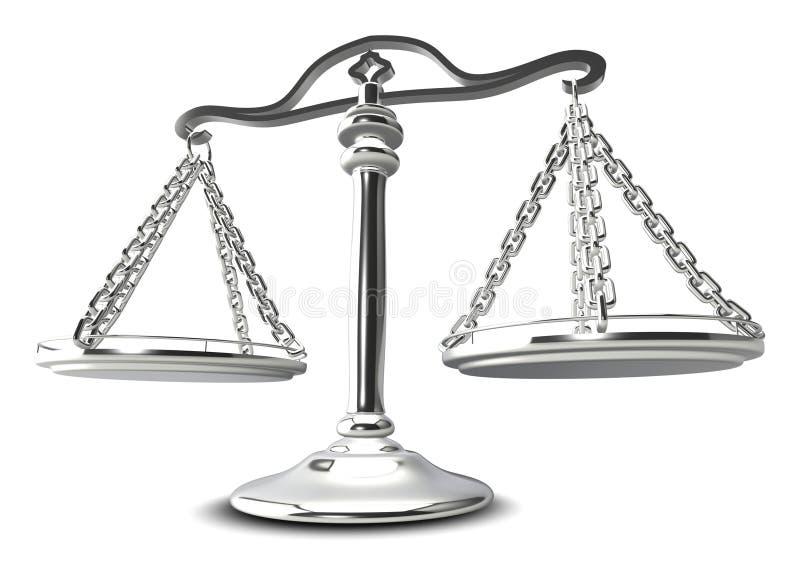 (3d) Escalas de justiça ilustração do vetor