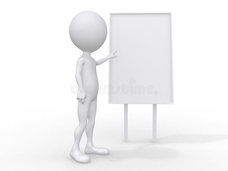 3d escogen al hombre de negocios adulto en la reunión libre illustration