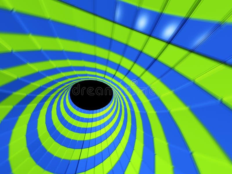 3D espaço - túnel abstrato ilustração stock