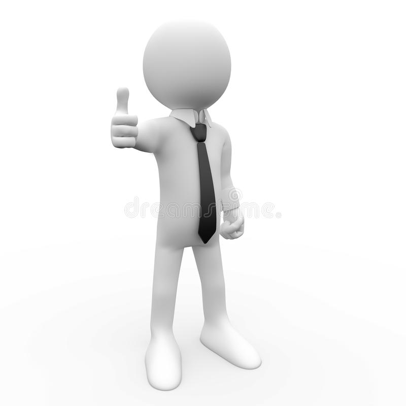 3D essere umano, APPROVAZIONE royalty illustrazione gratis