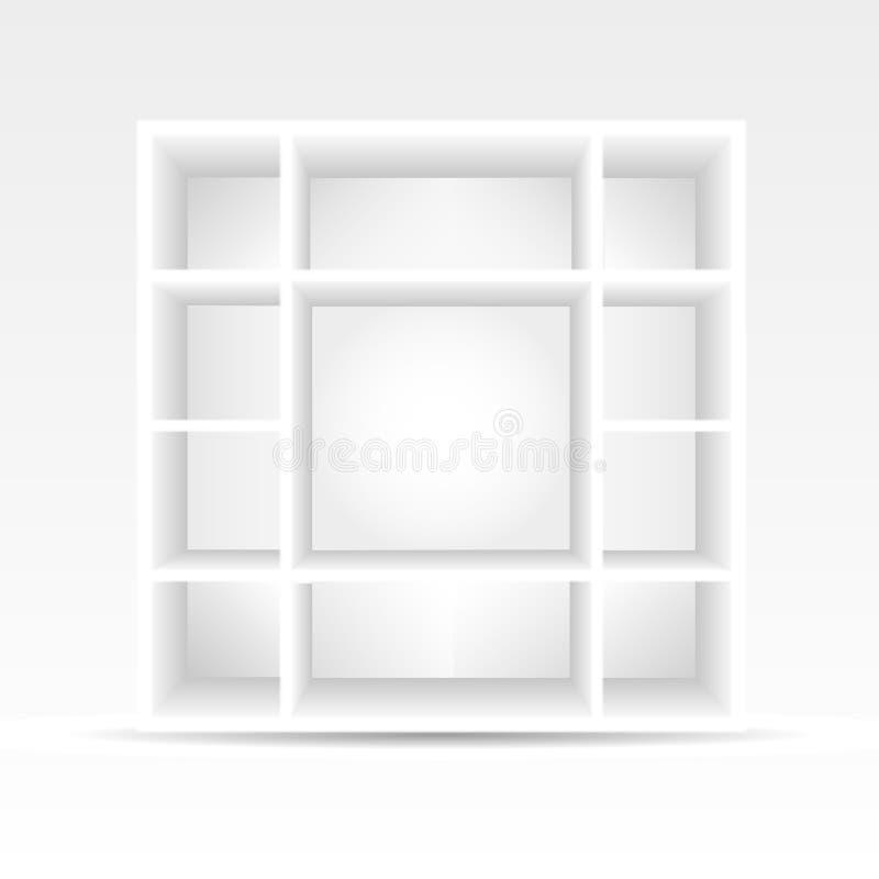 3d esvaziam a biblioteca ilustração do vetor
