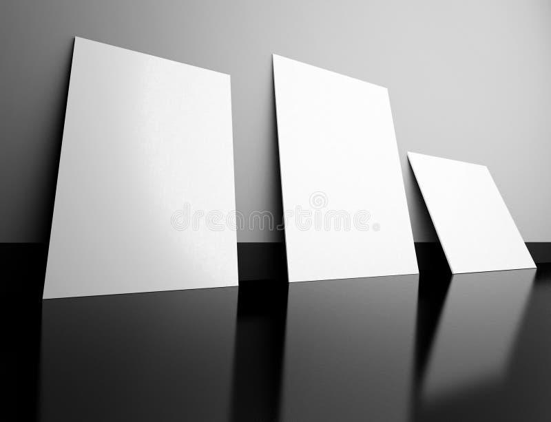 3d esvaziam frames no interior ilustração royalty free