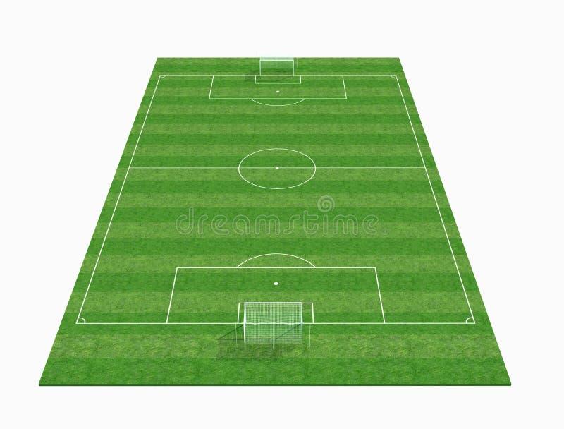 3d esvaziam o campo de futebol ilustração stock