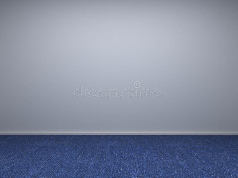 3d esvaziam a parede do quarto ilustração do vetor