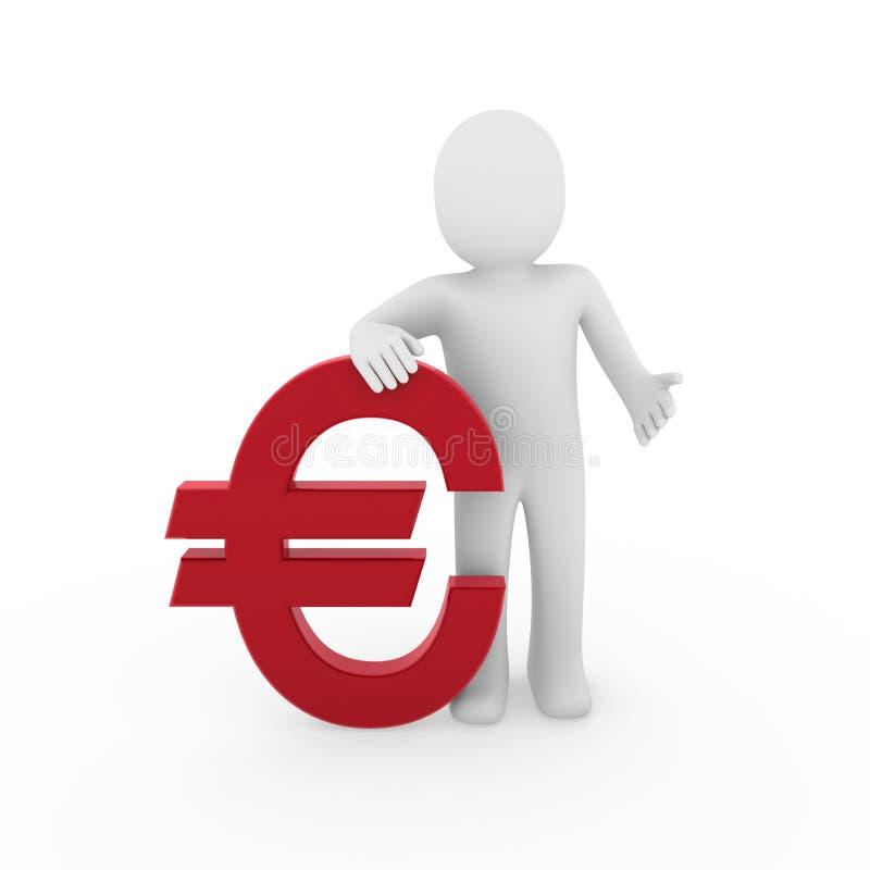 3d euro istota ludzka ilustracja wektor