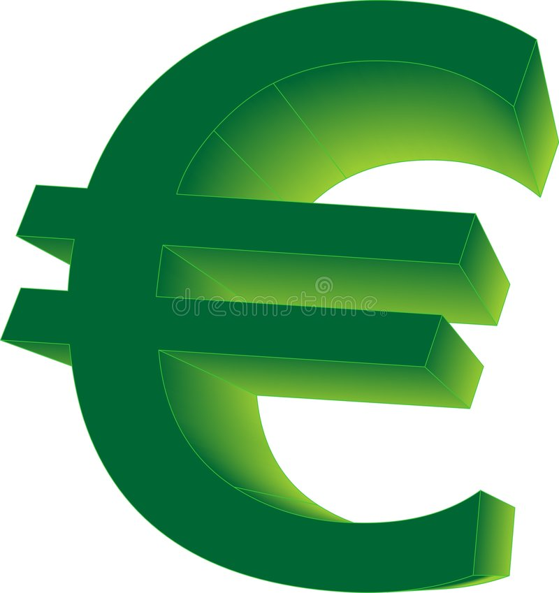 Download 3D euro sign stock vector. Illustration of money, euro - 7488264