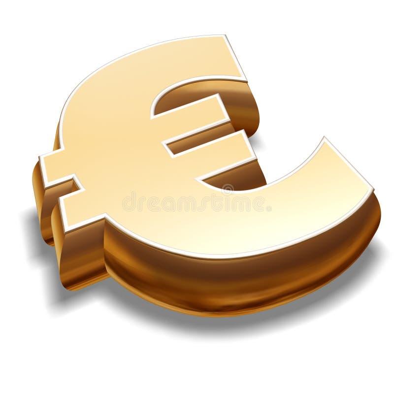 3D Euro Symbol royalty free illustration