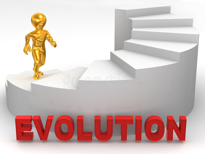 3d ewoluci mężczyzna schodki ilustracja wektor