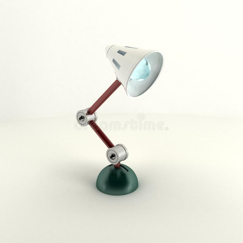 3d the exclusive fixture on a metal support on a l royalty free stock photo