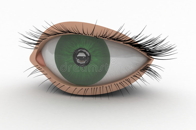 3D Eye Icon vector illustration