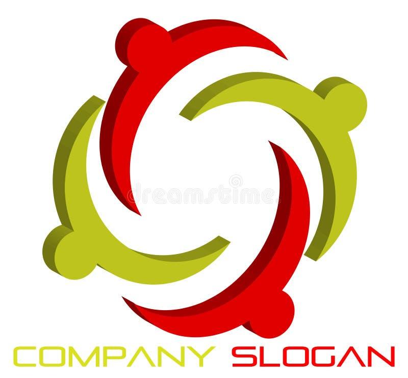 3d förbunde logo vektor illustrationer