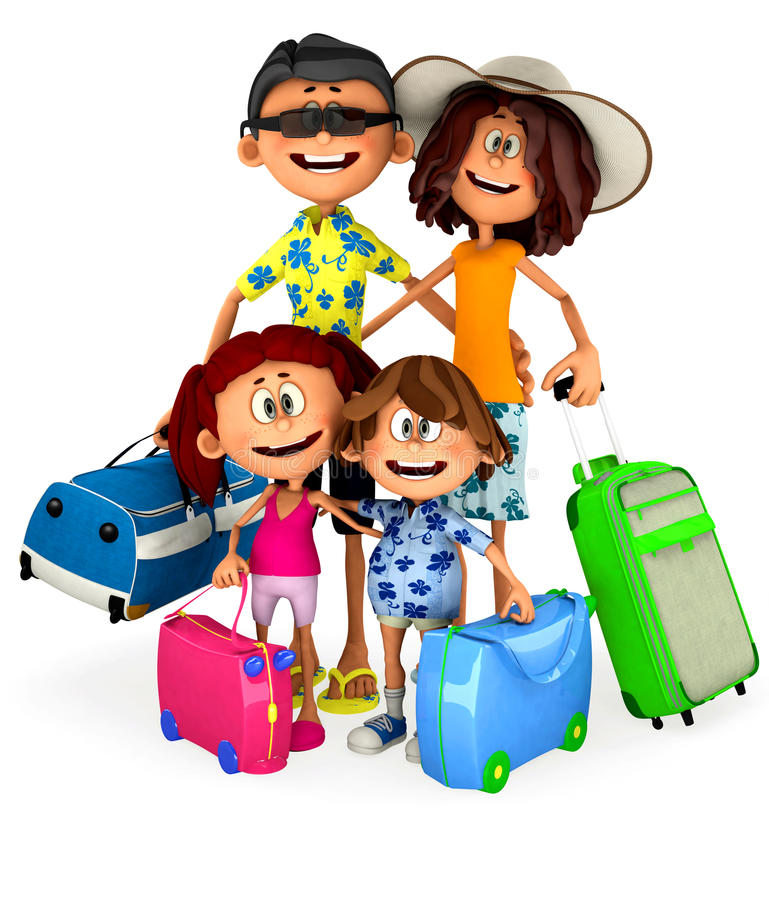 3D Family on holidays