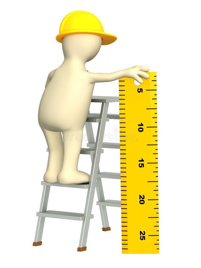 3d fantoche - construtor com régua ilustração royalty free