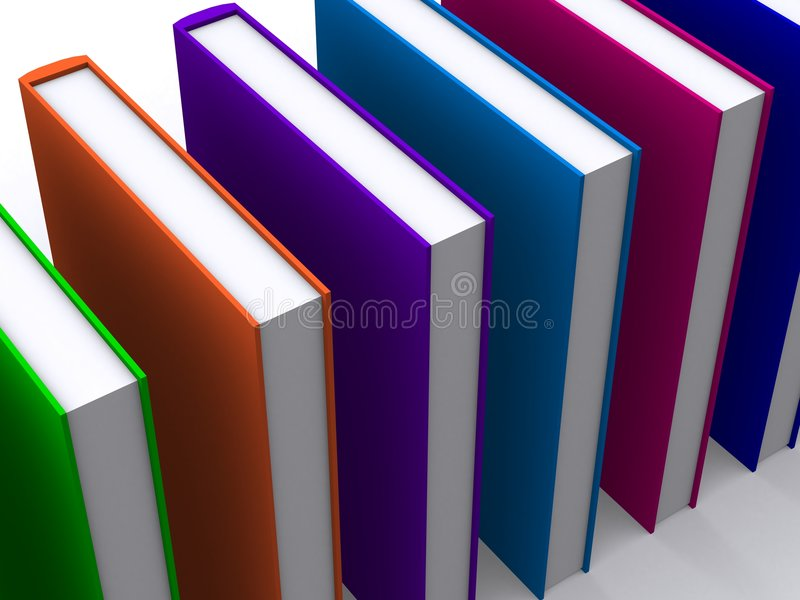 3d farbige Bücher lizenzfreie abbildung