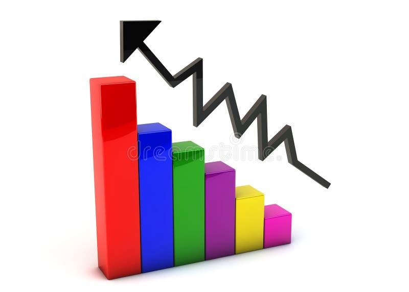 3d farbiges Diagramm stock abbildung