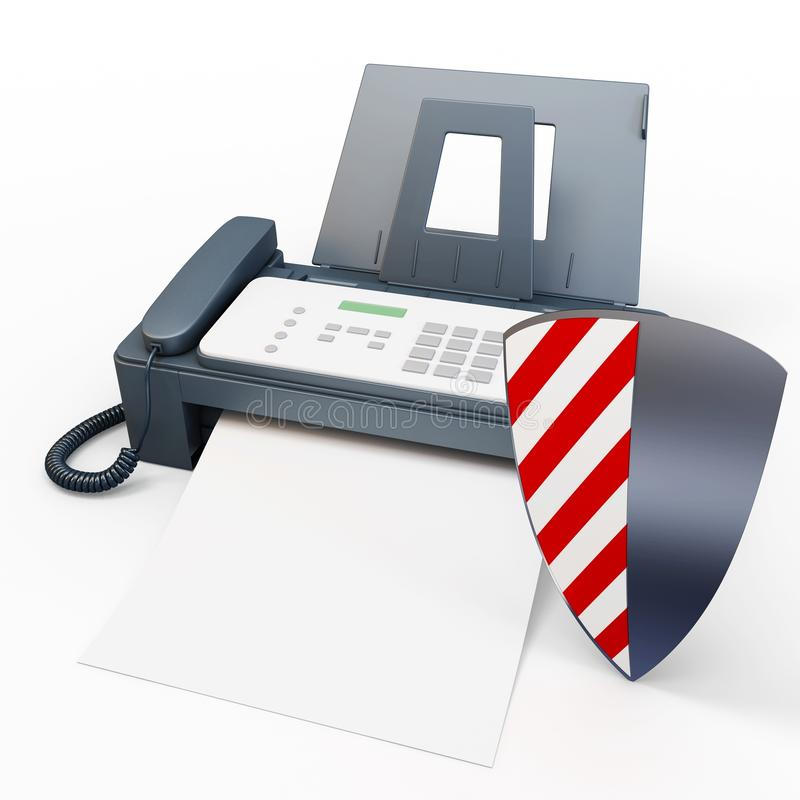 Download 3d fax machine protected stock illustration. Illustration of electronic - 24474843