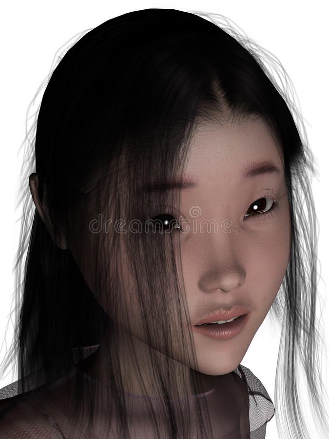 3D female human. stock photo