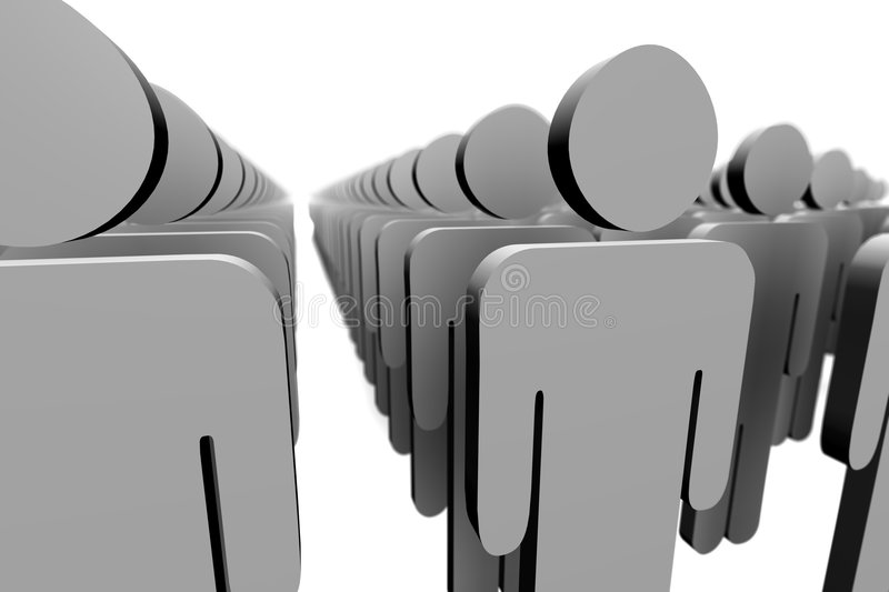 Download 3d figures stock illustration. Image of together, gathering - 89103