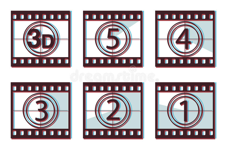 Download 3d Film Countdown Stock Photography - Image: 13510412