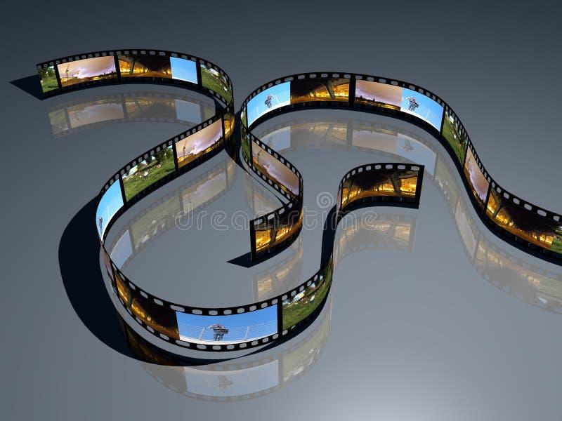 3d film positve film strip