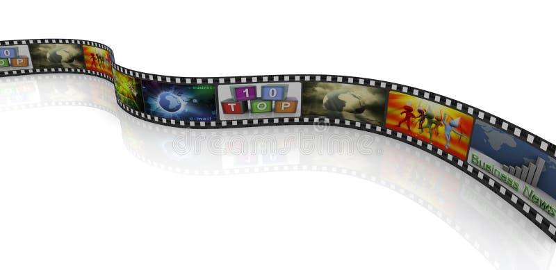 3d film reel vector illustration