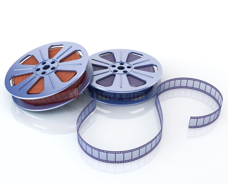 3d Film reels vector illustration