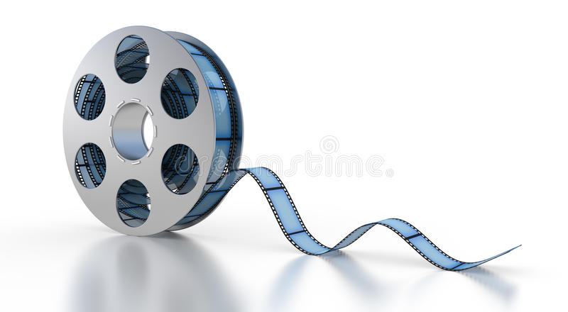 Download 3d Film Strip stock illustration. Image of clip, steel - 21445469